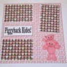 """Piggyback Rides""-Premade Scrapbook Page 12x12"
