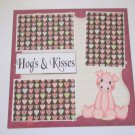 """Hogs and Kisses a""-Premade Scrapbook Page 12x12"