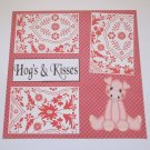 """Hogs and Kisses""-Premade Scrapbook Page 12x12"