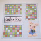 """Such A Ham Boy""-Premade Scrapbook Page 12x12"