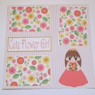 """Cute Flower Girl""-Premade Scrapbook Page 12x12"