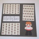 """Perfect Ring Bearer""-Premade Scrapbook Page 12x12"