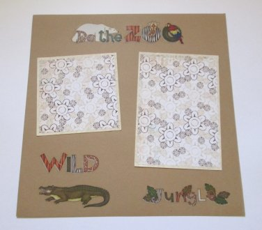 """Do The Zoo""-Premade Scrapbook Page 12x12"