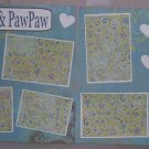 """Nana and Pawpaw dbl""-Premade Scrapbook Pages 12x12-Double Page Layout"