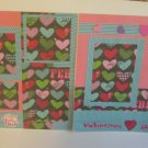 """""""Valentine's Day dbl""""-Premade Scrapbook Pages 12x12-Double Page Layout"""