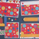 """Back To School dbl""-Premade Scrapbook Pages 12x12-Double Page Layout"