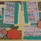 """Cutest Pumpkin In The Patch dbl""-Premade Scrapbook Pages 12x12-Double Page Layout"