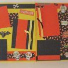 """Fright Night dbl""-Premade Scrapbook Pages 12x12-Double Page Layout"
