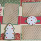 """Gingerbread and Sprinkles dbl""-Premade Scrapbook Pages 12x12-Double Page Layout"