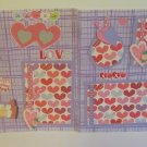 """Happy Valentine''s Day Girl r dbl""-Premade Scrapbook Pages 12x12-Double Page Layout"