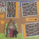 """Hunting Season dbl""-Premade Scrapbook Pages 12x12-Double Page Layout"