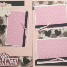 """I Love To Dance dbl""-Premade Scrapbook Pages 12x12-Double Page Layout"