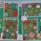 """Santa Claus Is Coming To Town dbl""-Premade Scrapbook Pages 12x12-Double Page Layout"
