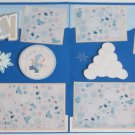 """""""Snow Day dbl""""-Premade Scrapbook Pages 12x12-Double Page Layout"""