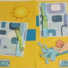 """Slipping and Sliding Boy dbl""-Premade Scrapbook Pages 12x12-Double Page Layout"