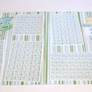"""Baby Boy Crib dbl""-Premade Scrapbook Pages 12x12-Double Page Layout"