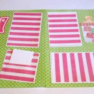 """Baby Girl Crib dbl""-Premade Scrapbook Pages 12x12-Double Page Layout"