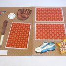 """Champ All Star Baseball dbl""-Premade Scrapbook Pages 12x12-Double Page Layout"