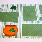 """Mommy's Lucky Charm dbl""-Premade Scrapbook Pages 12x12-Double Page Layout"
