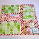 """100% Cute Baby Blocks""-Premade Scrapbook Page 12x12"