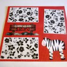 """""""A Visit To The Zoo""""-Premade Scrapbook Page 12x12"""