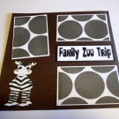 """Family Zoo Trip 1""-Premade Scrapbook Page 12x12"