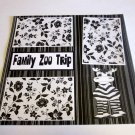 """Family Zoo Trip""-Premade Scrapbook Page 12x12"