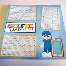 """Selfie Addict Boy 1""-Premade Scrapbook Page 12x12"