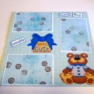 """Beary Cute Sweet Boy""-Premade Scrapbook Page 12x12"