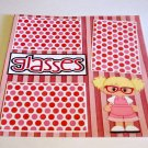 """Glasses Girl""-Premade Scrapbook Page 12x12"