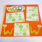 """Get Your Wiggle On""-Premade Scrapbook Page 12x12"