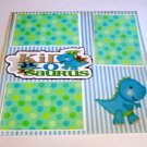 """""""Kids O Saurus""""-Premade Scrapbook Page 12x12"""