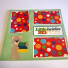"""Little Bricks Big Ideas 1""-Premade Scrapbook Page 12x12"