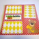 """Little Bricks Big Ideas 2""-Premade Scrapbook Page 12x12"