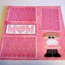 """Mom Boy""-Premade Scrapbook Page 12x12"