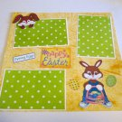 """Happy Easter Dyeing Eggs""-Premade Scrapbook Page 12x12"