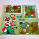 "Merry Christmas Bear w/Star""-Premade Scrapbook Page 12x12"