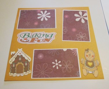 """Baking Fun""-Premade Scrapbook Page 12x12"