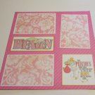 """Heaven Sent Me An Angel Girl a""-Premade Scrapbook Page 12x12"