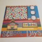 """School Days""-Premade Scrapbook Page 12x12"