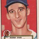 Warren Spahn 1952 Topps #33 Baseball Card EX Condition