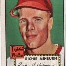 Richie Ashburn 1952 Topps #216 Baseball Card EXCELLENT (EX)