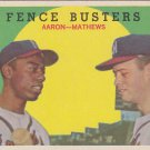 Fence Busters Hank Aaron / Eddie Mathews 1959 Topps #212 EX
