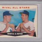 Rival All-Stars Mantle & Boyer 1960 Topps #160 PSA 5 EX