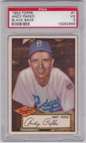 Andy Pafko 1952 Topps #1 Baseball Card PSA 3 VG