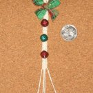 Dollhouse Miniature Holiday Macrame Bell Pull