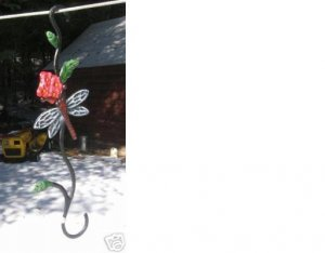 Cast Iron Dragonfly Plant Hanger Hook for Yard or Home