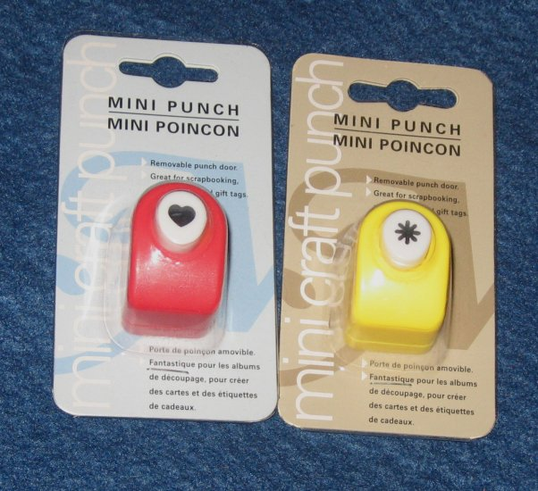 Mini Craft Punches NIP Flower and Heart Scrapbooking