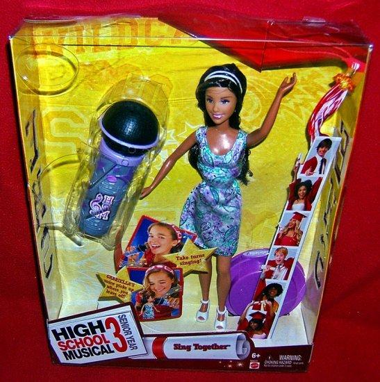 High School Musical 3 Sing Together Gabriella Doll~NEW IN BOX