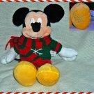 "Disney Store Christmas Mickey Plush 16"" Exclusive ~ NEW"